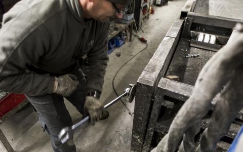 Constructie atelier betonwerken